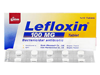 [クラビットジェネリック]レフロキシン(Lefloxin)100mg