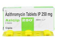 ジスロマックジェネリック250mg (Azicip)