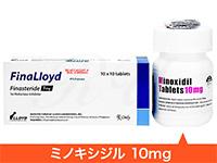 フィナロイド100錠 + ミノキシジル10mg100錠