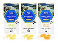 マヌカハニーキャンディ(ManukaHoneyDrops)オレンジ/レモン/レモン&メントール3種各12粒入り