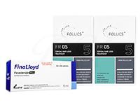 フォリックスFR05ローション60ml2本 + フィナロイド1mg100錠1箱